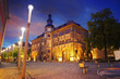 Stadt Nordhausen Rathaus with Roland figure in Germany