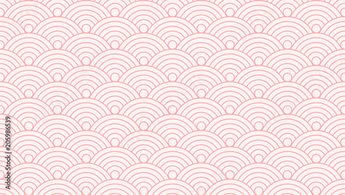 fototapeta na ścianę Backgrounds pattern seamless geometric sweet pink circle Japanese style abstract and line vector design. Pastel color background.