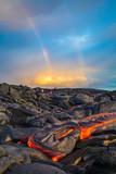 Fototapeta Tęcza - Hot lava on the Big Island of Hawaii