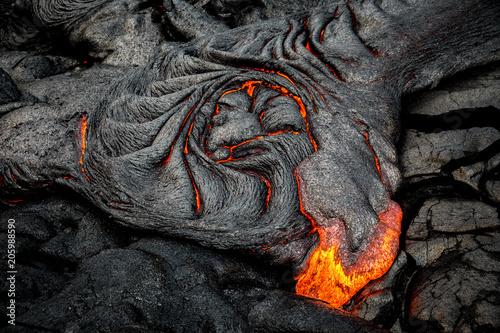 Hot lava on the Big Island of Hawaii