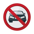 No cars allowed prohibition sign, no cars entry, Do not drive symbol, vector illustration