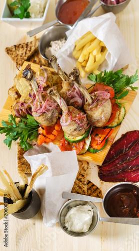 Foto op Plexiglas Buffet, Bar meat appetizer in the restaurant