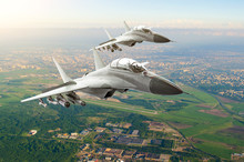 Couple Military Jet Fighter Ai...