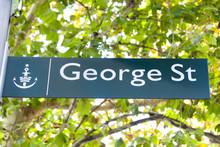 George Street Sign - Sydney - Australia