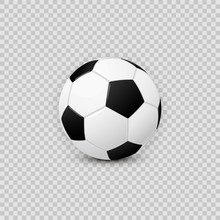 Realistic Football Soccer Ball...
