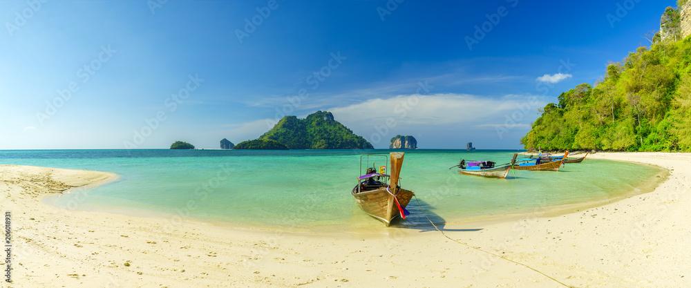 Fototapety, obrazy: Poda island beach  white sand and turquoise sea