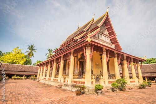 Fotobehang Bedehuis Nice view of Sisaket temple in Vientiane