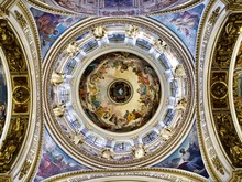 The Dome Of Saint Isaac´s Cathedral (Interior Of The Great Dome, Honoring The Holy Spirit)