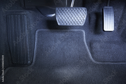 Brake and accelerator pedal, automatic transmission car. Fototapet