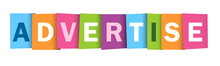 ADVERTISE Colourful Letters Banner