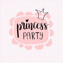 Princess Party Bridal Shower Card Design.