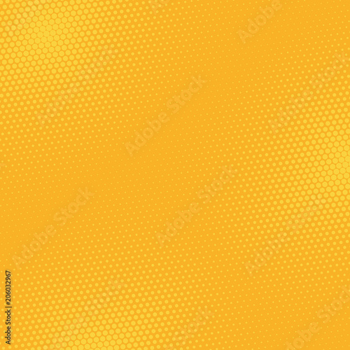 Fotobehang Pop Art Comics orange background halftone dots, pop art retro style.