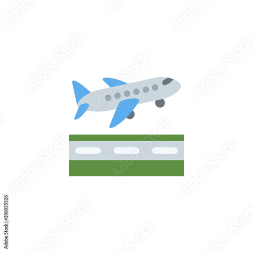 Airplane Departure Passenger Air Plane Taking On Vector Illustration Flat Icon Symbol Cartoon Style Emoticon Buy This Stock Vector And Explore Similar Vectors At Adobe Stock Adobe Stock