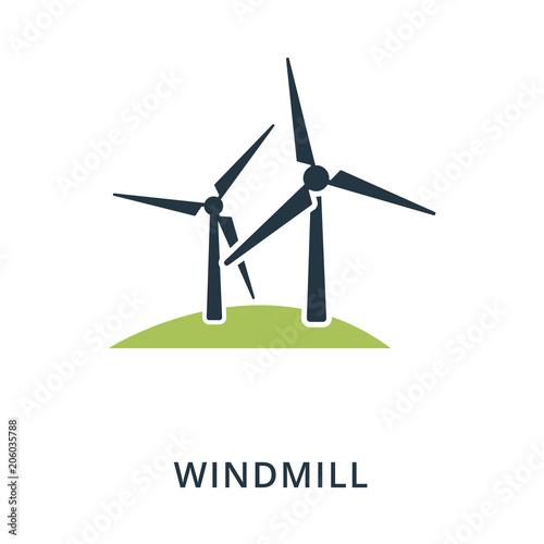 Cuadros en Lienzo Windmill icon