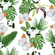 Seamless Pattern With Tiare Fl...