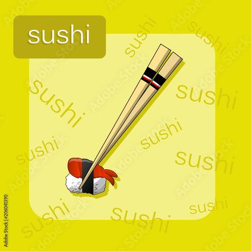 Concept design of the invitation sushi restaurant vector concept design of the invitation sushi restaurant vector illustration stopboris Images