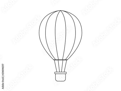 Fotografija  Hot air balloon vector