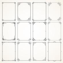 Vector Calligraphic Frame Set