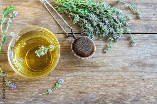 Fototapeta herbal tea with wild thyme obraz
