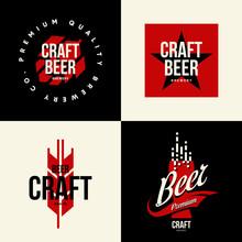 Modern Craft Beer Drink Vector...