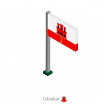 Gibraltar Flag On Flagpole In ...
