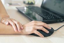 Woman Wrist Arm Pain Long Use ...