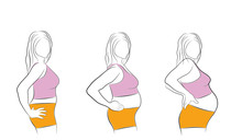 Changing The Woman's Body Duri...