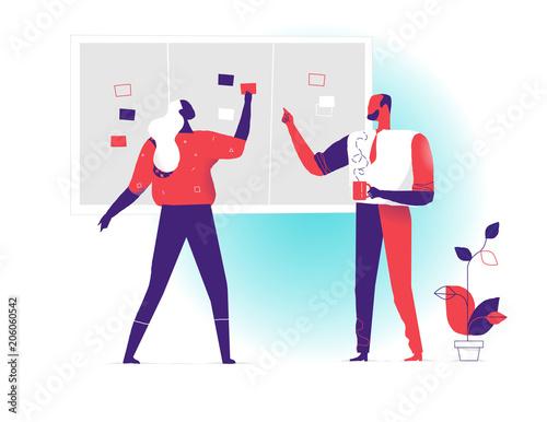Manager che pianificano le attività di progetto sulla board Canvas Print