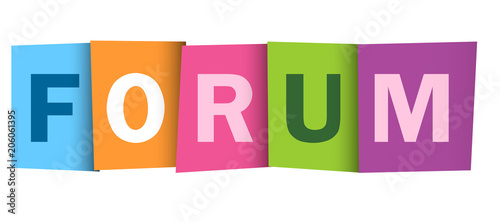 FORUM colourful letters banner Wallpaper Mural