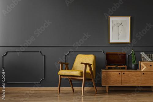 Simple vintage room interior Slika na platnu