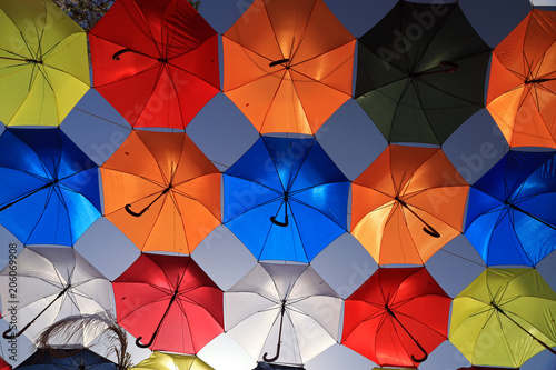 Foto op Plexiglas Cyprus Umbrellas in old city, Nicosia, Cyprus