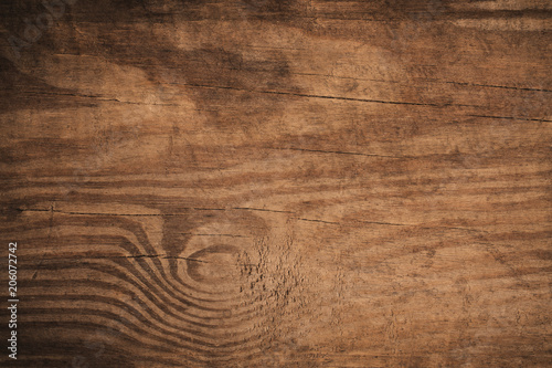 Poster Retro Old grunge dark textured wooden background,The surface of the old brown wood texture,top view brown wood paneling