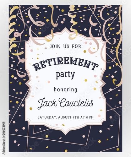 Fotografía  Retirement party invitation