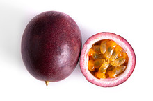 Passion Fruit & Slice Isolated...