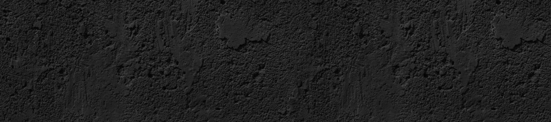 panorama front-end black concrete uneven cracked background