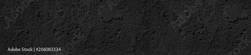 Photo  panorama front-end black concrete uneven cracked background