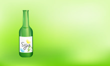 Soju Bottle Vector Illustratio...