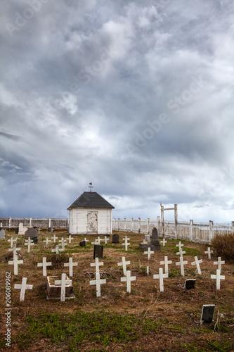 In de dag Begraafplaats Alter Friedhof an der Barentssee