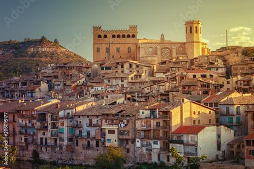 Valderrobres medieval village of the 12th century, Matarrana district, Teruel, Aragon, Spain