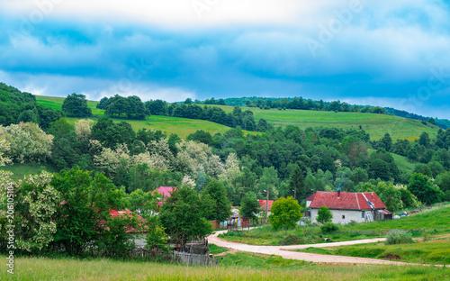 Foto op Canvas Pistache Small Town