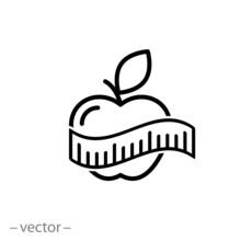 Measuring Tape Around Apple Ve...