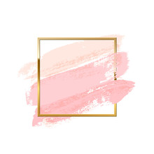 Pastel Pink Brush Strokes With...