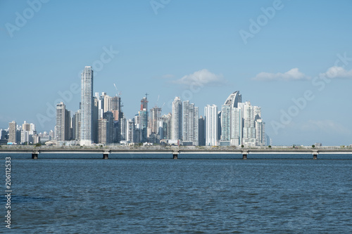 Staande foto Stad gebouw Panama City coast view skyline of business district
