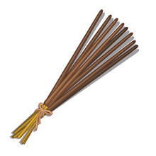 Eastern Incense Sticks Isolate...