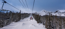 Ski Lift Ride At Big Sky