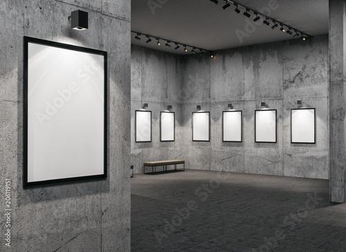 Fototapeta empty gallerys in museum