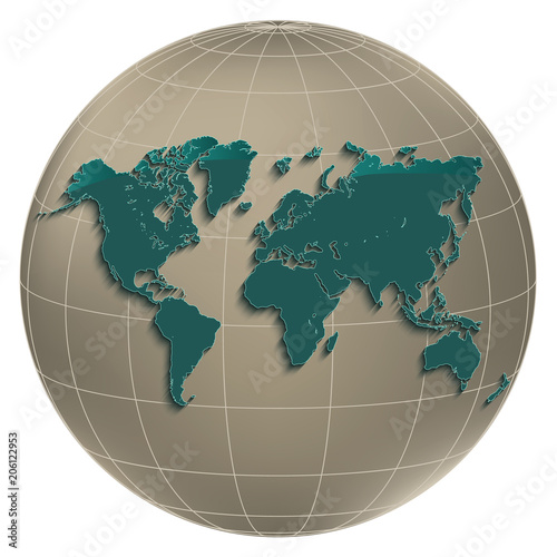 World map earth globus geographic globe coordinates white background world map earth globus geographic globe coordinates white background light petroleum colour vector gumiabroncs Image collections