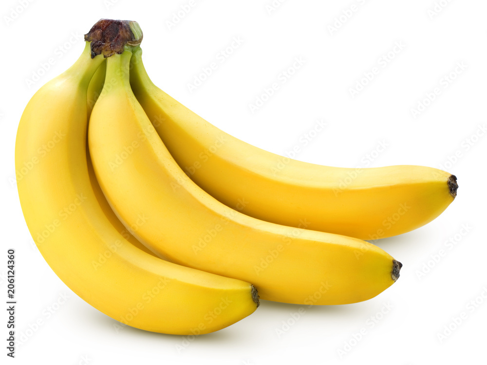 Fotografie, Obraz Bananas isolated on white