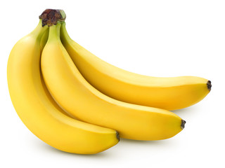 Bananas isolated on white