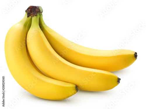 Bananas isolated on white - 206124360